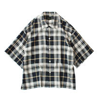 Square bottom S/S shirt - Check / Navy