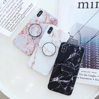 ILUNA リング付き 大理石 iPhoneCase