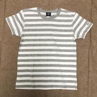 SUPLEX 綿ボーダーTシャツ(ホワイト&ヘザーグレー)