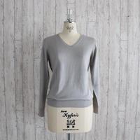 KOHARU スパンシルクスムースタッチVネックセーター〚SW0087〛