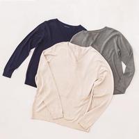 シルクVネックセーター(長袖)〚SW0604〛