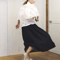 embroidery gathered skirt / 03-9107001