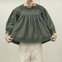 Square Neck Gathered Top / 03-9208005