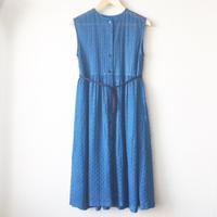 indigo-dyed sleeveless gathered op / 03-8105001