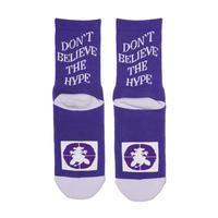 DON'T BELIEVE THE HYPE SOCKS Purple
