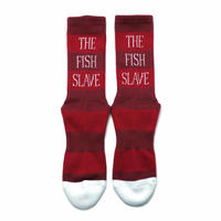 Border Socks  BURGANDY