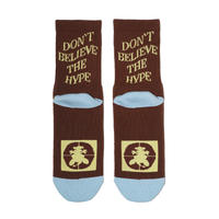 DON'T BELIEVE THE HYPE SOCKS Brown