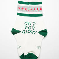 STEP FOR GLORY Line socks  GRN/GRY