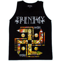 """FRENEMY"" Ganesh Whirling Log Tank Blk"