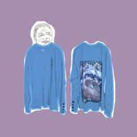 SUSU ロング T-シャツ  Indigo blue