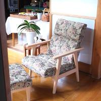 安楽椅子とオットマンのセット