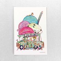 19 POST CARD|いっぱいのせたい!! 夢のアイスキャンデー屋さん