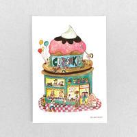 24 POST CARD|おなかいっぱい CUP CAKE