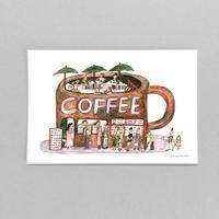 29 POST CARD|行列のできるCOFFEE屋さん