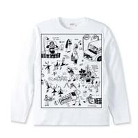 PEOPLES  長袖 T-shirt / インクジェットプリント
