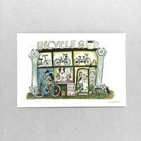 21 POST CARD|コーヒを飲みながら 自転車をカスタマイズ