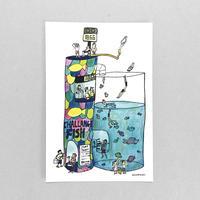39 POST CARD|飛び込みの点数で魚をゲットできる魚屋さん