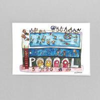 42 POST CARD|ペンギン一族と泳げるプール