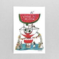 43 POST CARD|しぼりたてのスイカジュースのお店