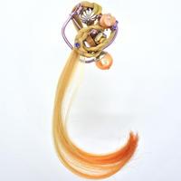 ファイバーピアス/イヤリング[オレンジ色の波]