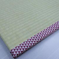 玄関畳マット -ただいま- 鱗赤×銀  L size