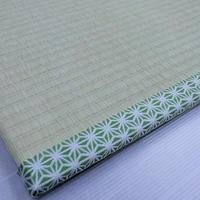 玄関畳マット -ただいま- 麻の葉緑  L size