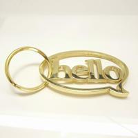 balloon+hello Keyholde |  Brass