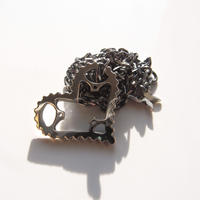 33T「open heart」chainring necklace