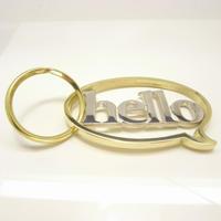 balloon+hello Keyholde | Silver × Brass