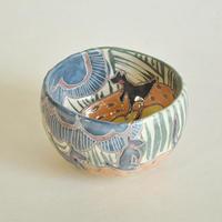 抹茶茶碗 アリスの風景:箱付き