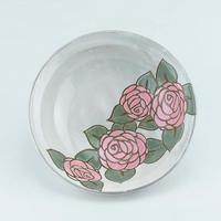 バラのパスタ皿