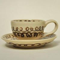 カップ&ソーサー|グルグル瓢箪紋