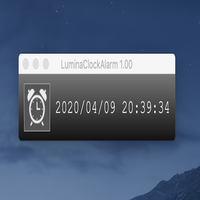 【アプリ】LuminaClockAlarm 1.00 for MacOS
