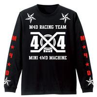 M4D 2019 ロングTシャツ 4x4-レッド