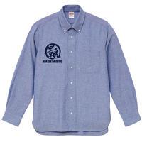 景元 / KAGEMOTO オックスフォード ボタンダウンシャツ ブルー