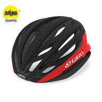 GIRO(ジロ) ヘルメット シンタックス ミップス アジアンフィット SYNTAX MIPS AF マットブラック×ブライトレッド