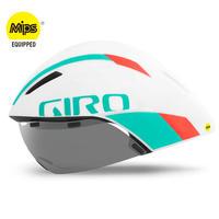 GIRO AEROHEAD MIPS Matte White / Turquoise / Vermillion クールなままで時間に挑む トライアスロンやロングTT向けモデル