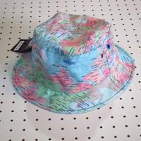 【ARAINA】世界地図柄ハット/帽子総柄カラフル