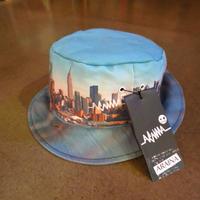 ニューヨークの街柄ハット帽子【ARAINA】総柄カラフル