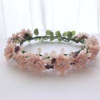 可愛いピンクの花冠