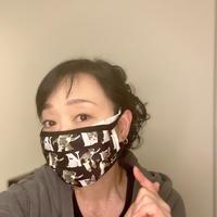 川上麻衣子オリジナルイラスト マスク