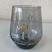 川上麻衣子の手描き猫 グラス