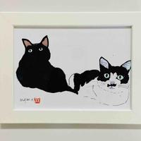 川上麻衣子オリジナル猫イラスト画(中)