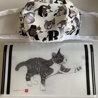 川上麻衣子猫イラスト マスクケース
