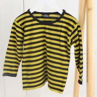 marimekko(マリメッコ)キッズ ボーダー長袖Tシャツ(100) BxM