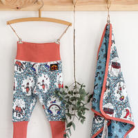 100%オーガニックコットン:Modeerskahuset Leggings- Garden Dreams