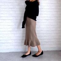 マーメイドニットスカート//2colors
