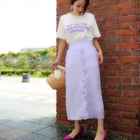 予約*リネン混デザインタイトスカート//2colors