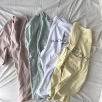 再入荷☆ペールカラー半袖カットソー//4colors