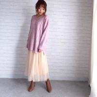 ふわふわチュールスカート//2colors